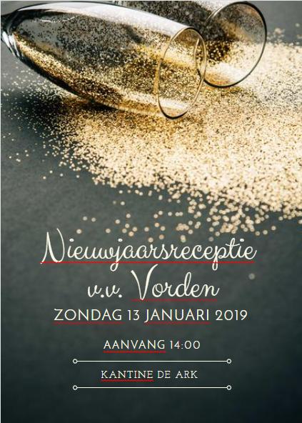 Uitnodiging Nieuwjaarsreceptie 13 januari 2019