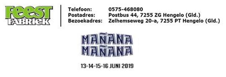 Werken bij 'Manana-Manana' en verdien geld voor je club en ontvang een gratis entreekaart!