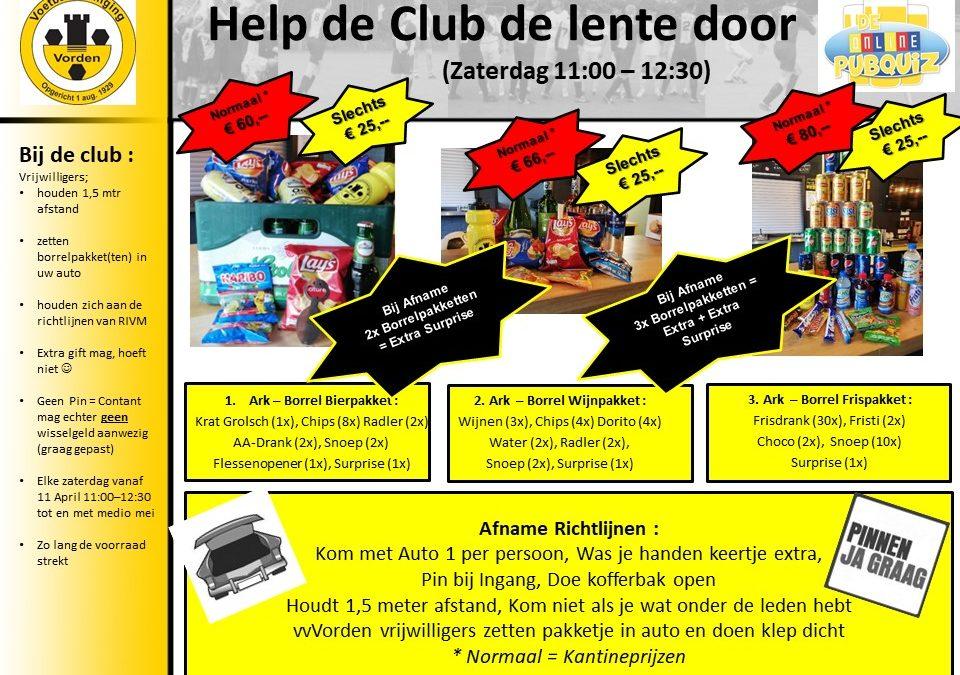 VV Vorden organiseert koopzaterdag vanaf zaterdag 11 april