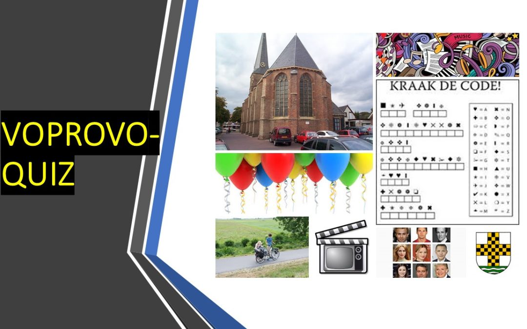 Nog 1 dag voor opgave VoproVo-quiz